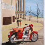 © Benoît Moreau - Jawa 1958 - Publicité - Panorama du monde. – huile sur toile + collage- 100 x 81 cm - 2015